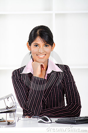 Indian Office Lady Stock Images - Image: 21060394