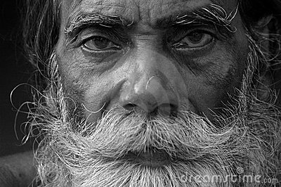 INDIAN OLD FARMER Editorial Stock Image