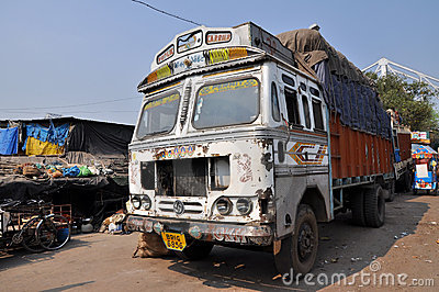 Indian Old Rusty Truck Editorial Image