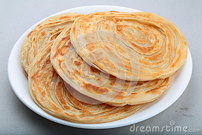 Indian Paratha- A multi layered flat bread.