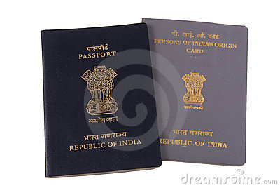 Indian Passport and PIO Card