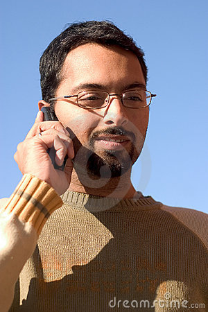 Indian on the phone