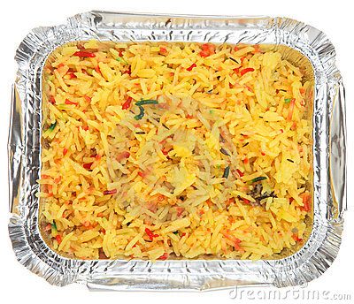 Indian Pilau Rice Takeaway