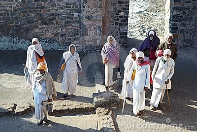 Indian pilgrims Editorial Image