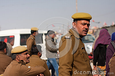Indian police officers Editorial Photography