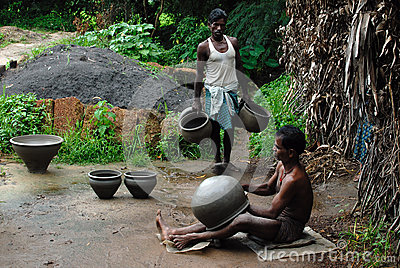 Indian Pottery Maker Editorial Image