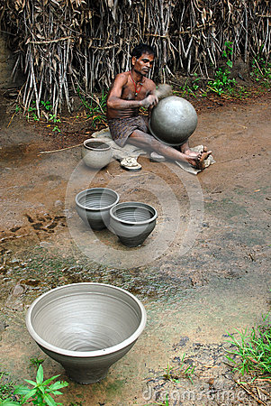 Indian Pottery Maker Editorial Stock Photo