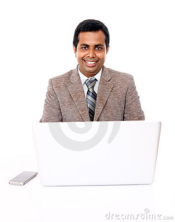 Indian professional working