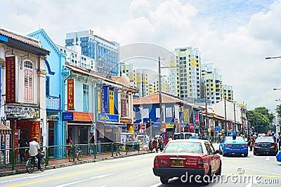 Indian quarter in Singapore Editorial Photo