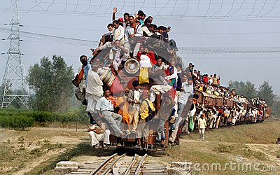 Indian Rail Passengers. Editorial Image