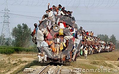 Indian Rail Passengers. Editorial Image