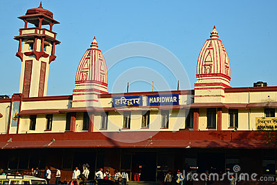 Indian railway station Editorial Photography