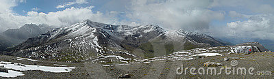Indian Ridge panorama - Jasper, Canadian Rockies