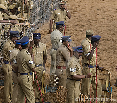 Indian riot police Editorial Photography