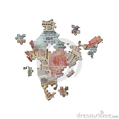 Indian Rupee Map jigsaw