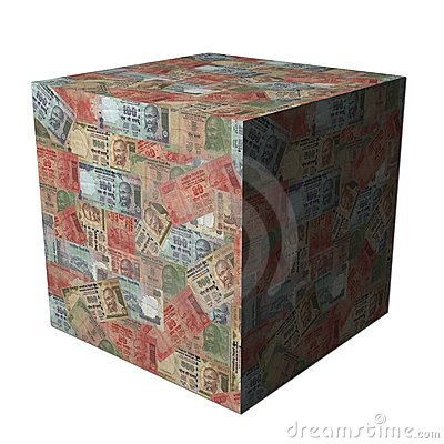 Indian Rupees cube