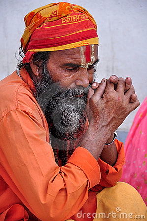 Indian sadhu Editorial Stock Image