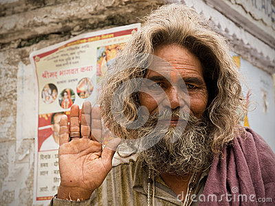 Indian Sadhu Editorial Photo
