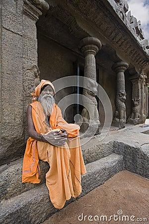 Indian Sadhu - Mamallapuram - India Editorial Photography