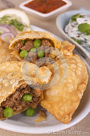 Indian Samosas With Spicy Lamb