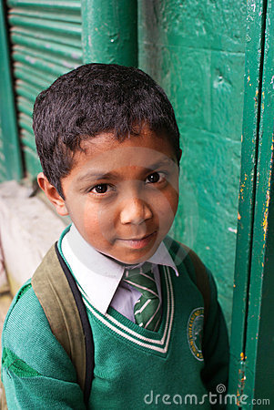 Indian schoolboy in uniform Editorial Photography