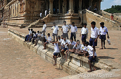Indian schoolboys Editorial Image