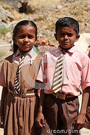 Indian schoolchildren Editorial Photography