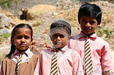 Indian schoolchildren Editorial Photo