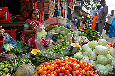 Indian Sell Vegetable Editorial Stock Photo