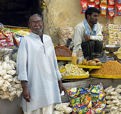 Indian Shopkeeper - Jaipur - India Editorial Photography
