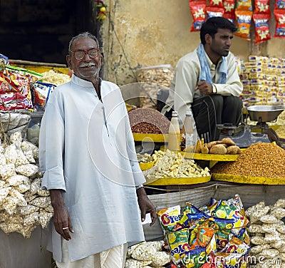 Indian Shopkeeper - Jaipur - India Editorial Photography