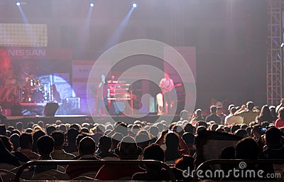 Indian singer Sunidhi Chauhan performs at Bahrain Editorial Photography