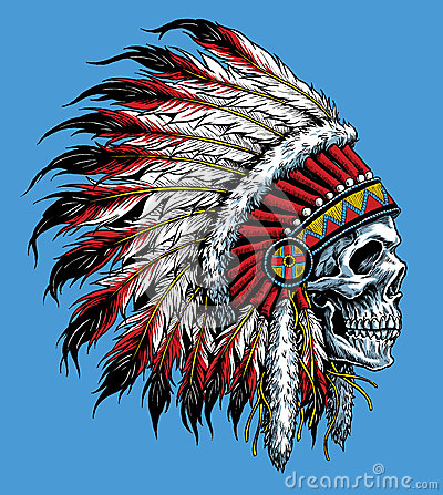 Free Indian Skull Vector Illustration Stock Photo - 44681850