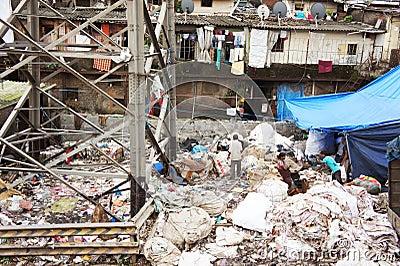 Indian Slum Area Editorial Photography