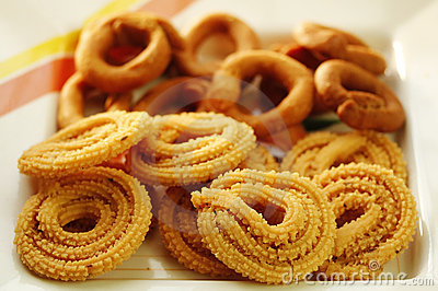 Indian Snack - Muruku and Codbele