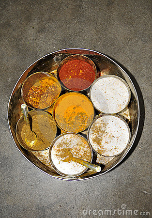 Indian spices box