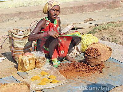 Indian spices vendor Editorial Stock Image