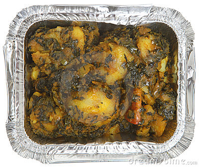 Indian Spinach & Potato Curry Takeaway