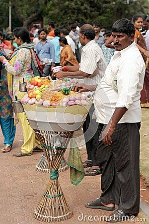 Indian street food vendor Editorial Stock Photo