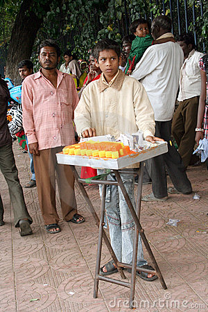 Indian street food vendor Editorial Photography