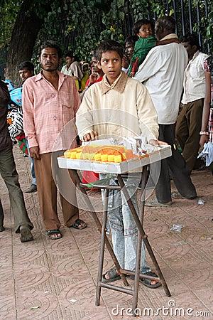 Indian street food vendor Editorial Photography