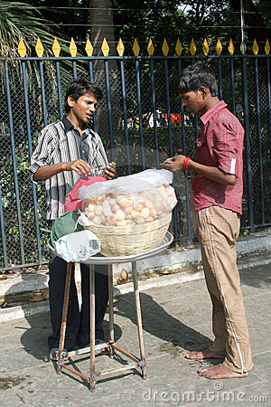 Indian street food vendor Editorial Image