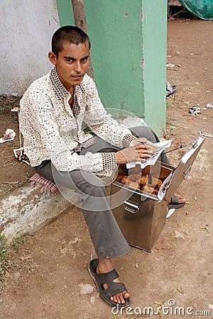 Indian street food vendor Editorial Image