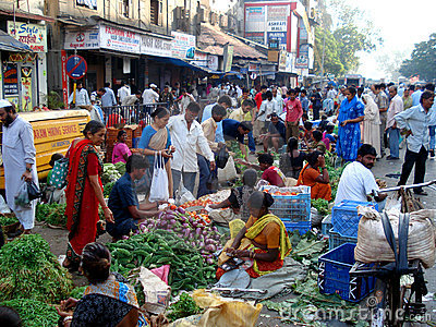 Indian street fruit market, Mumbai - India Editorial Image