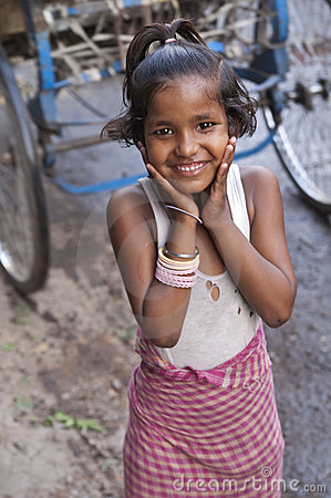 Indian Street Girl Editorial Stock Image