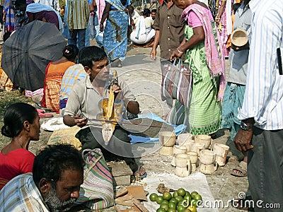 Indian street market Editorial Image