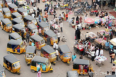 Indian Street Market Editorial Stock Photo