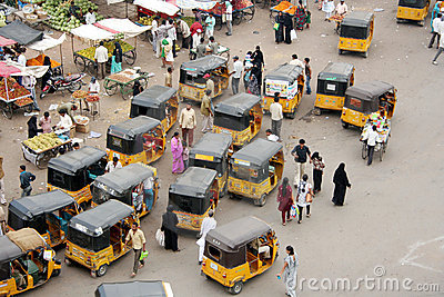 Indian Street Market Editorial Stock Image