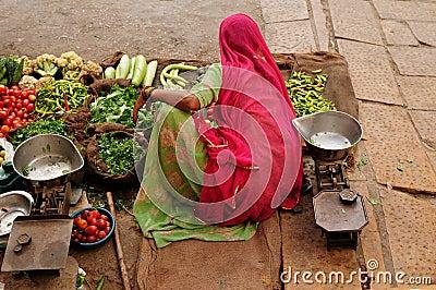 Indian street seler
