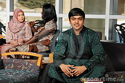 Indian Student wearing his traditional attire
